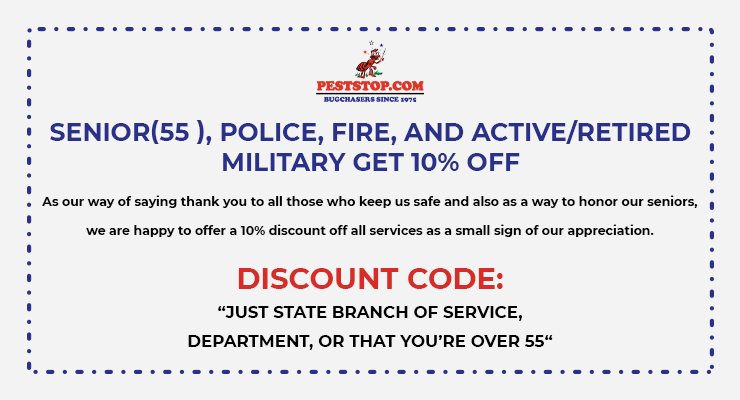 SENIOR(55 ), POLICE, FIRE, AND ACTIVE/RETIRED MILITARY GET 10% OFF